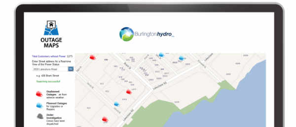 Outage Maps Search Tool on Laptop Screen